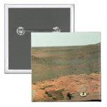 Panoramic view of Mars 15 Cm Square Badge