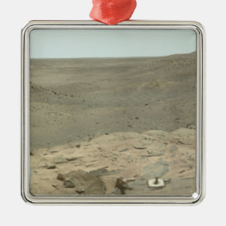 Panoramic view of Mars 2 Silver-Colored Square Decoration