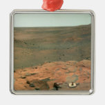 Panoramic view of Mars Silver-Colored Square Decoration