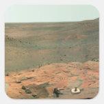 Panoramic view of Mars Square Sticker