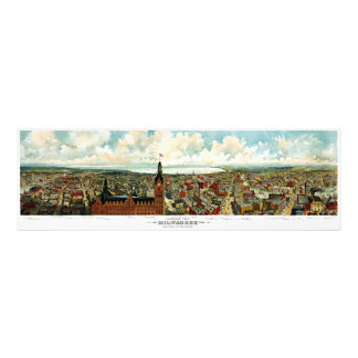 Panoramic View of Milwaukee Wisconsin 1898 Photo Print