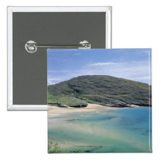 panoramic view of mountains and lake 15 cm square badge