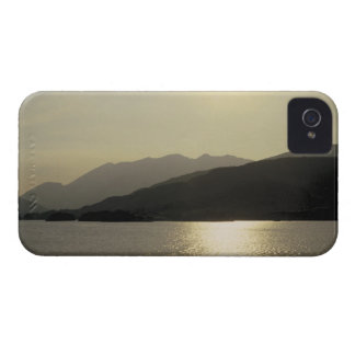panoramic view of mountains and lake 2 iPhone 4 covers