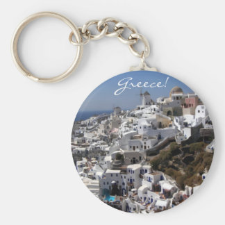 Panoramic view of Oia, Greece Key Ring