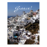 Panoramic view of Oia, Greece Post Card
