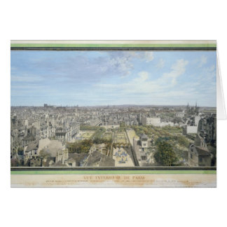 Panoramic View of Paris Towards the North, 1786 Card