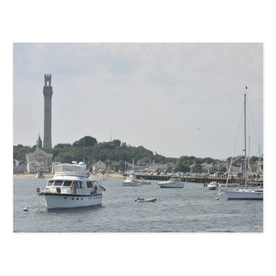 Panoramic view of Provincetown Harbour Postcard