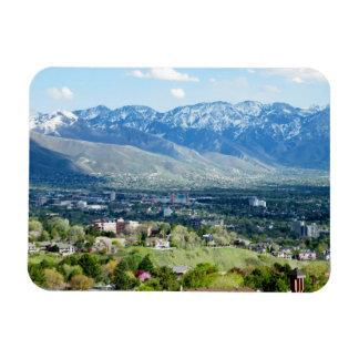 Panoramic View of Salt Lake City Magnets