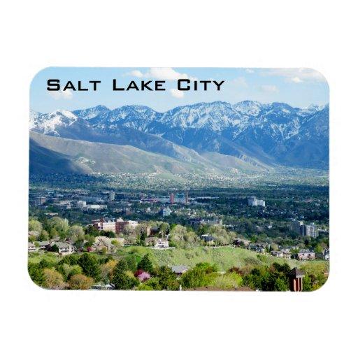 Panoramic View of Salt Lake City Rectangular Magnets