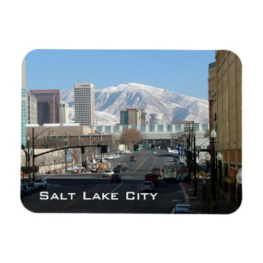 Panoramic View of Salt Lake City Flexible Magnet