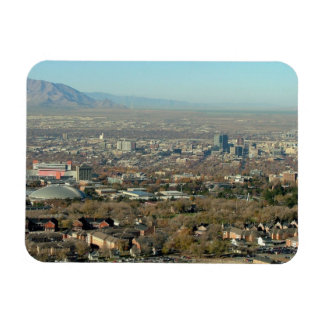 Panoramic View of Salt Lake City Rectangle Magnet