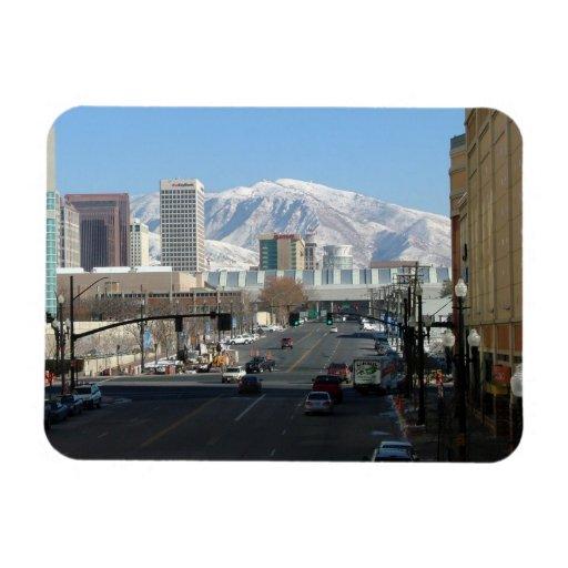 Panoramic View of Salt Lake City Flexible Magnets