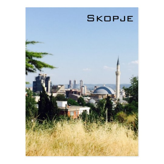 Panoramic View of Skopje Postcard
