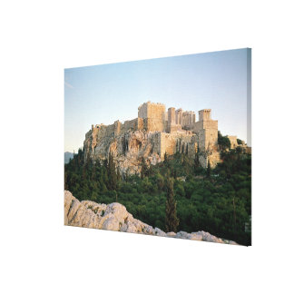 Panoramic view of the Acropolis Canvas Print
