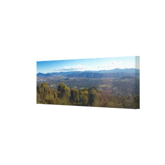 Panoramic view of the Blue Mountains, Canberra Stretched Canvas Print