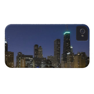 Panoramic view of the Chicago lakefront at dusk, iPhone 4 Cases