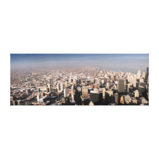 Panoramic view of the city canvas print