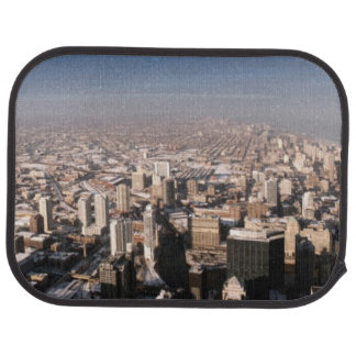 Panoramic view of the city car mat