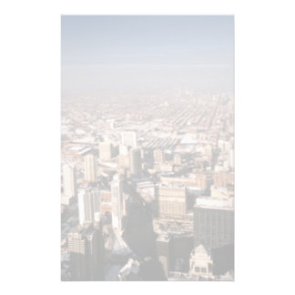Panoramic view of the city customized stationery