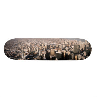 Panoramic view of the city skate deck