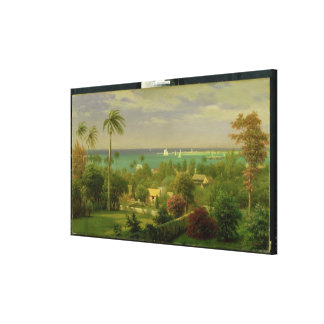 Panoramic View of the Harbour at Nassau in the Bah Canvas Print