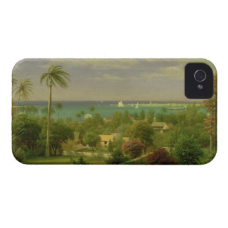 Panoramic View of the Harbour at Nassau in the Bah iPhone 4 Case