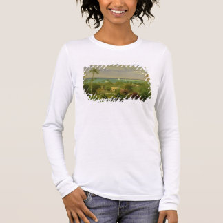 Panoramic View of the Harbour at Nassau in the Bah Long Sleeve T-Shirt