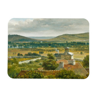 Panoramic View of the Ile-de-France Rectangular Photo Magnet