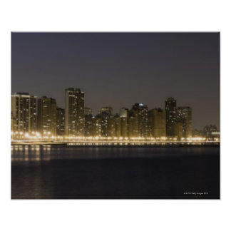 Panoramic view of the north side of Chicago at Poster