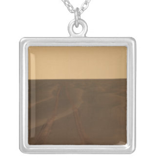 Panoramic view of the plains of Meridiani Silver Plated Necklace