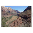 Panoramic View of Zion Canyon from The Watchman
