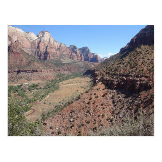Panoramic View of Zion Canyon from The Watchman Postcard