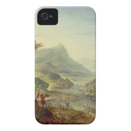 Panoramic view on the Rhine (pair with 59649) Case-Mate iPhone 4 Case
