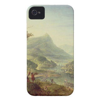 Panoramic view on the Rhine (pair with 59649) iPhone 4 Case-Mate Cases