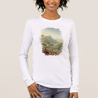 Panoramic view on the Rhine (pair with 59649) Long Sleeve T-Shirt