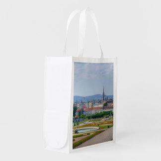 Panoramic View Over Vienna Austria From Belvedere Reusable Grocery Bag