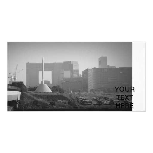 Panoramic view Tokyo Photo Card Template