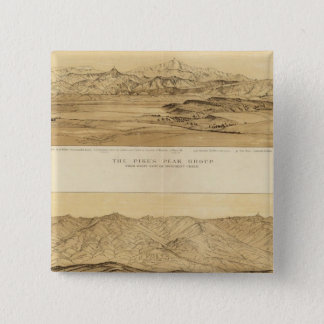 Panoramic Views of Colorado 15 Cm Square Badge