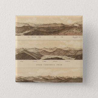 Panoramic Views of Mount Carrigain 15 Cm Square Badge