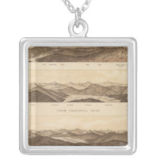 Panoramic Views of Mount Carrigain Silver Plated Necklace