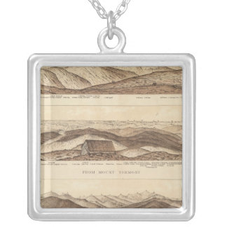 Panoramic Views of Mount Washington Silver Plated Necklace