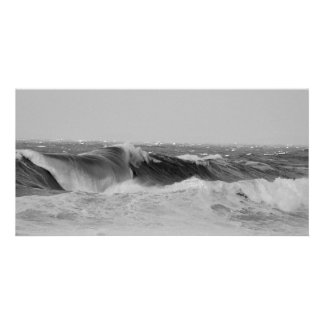 Panoramic Waves Picture Card