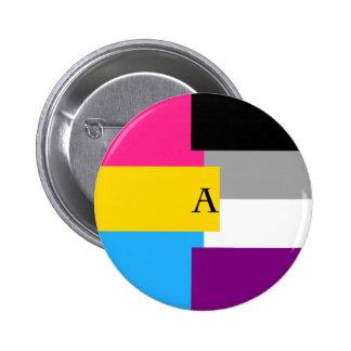 Panromantic Asexual Pan Ace Pin