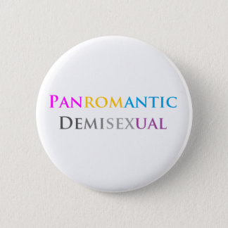 Panromantic Demisexual 6 Cm Round Badge