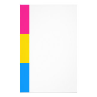Pansexual flag customized stationery