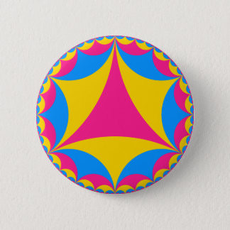 Pansexual flag fractal 6 cm round badge