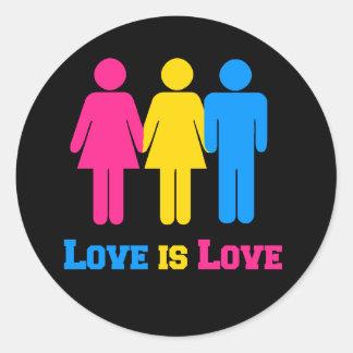 Pansexual Love Round Sticker