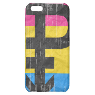 PANSEXUAL PRIDE DISTRESSED DESIGN COVER FOR iPhone 5C