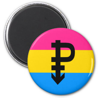 Pansexual Pride Flag 6 Cm Round Magnet