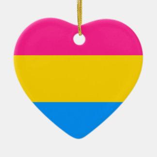 Pansexual pride flag christmas ornament